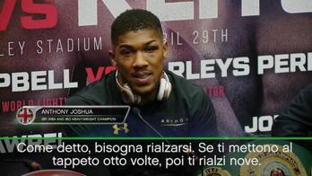 """Joshua: """"Bisogna rialzarsi sempre"""""""