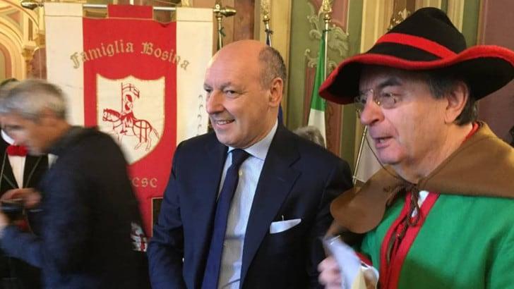 Juventus, Marotta premiato a Varese. E sulla Champions... fa gli scongiuri