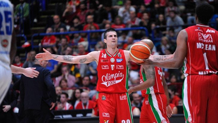 Basket, playoff scudetto: EA7, quota facile contro Capo d'Orlando