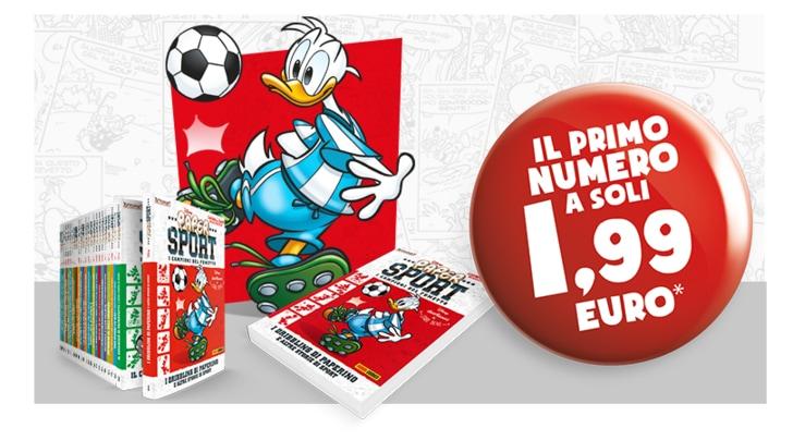 """Da lunedì in edicola """"Disney Paper Sport - I campioni del Fumetto"""""""