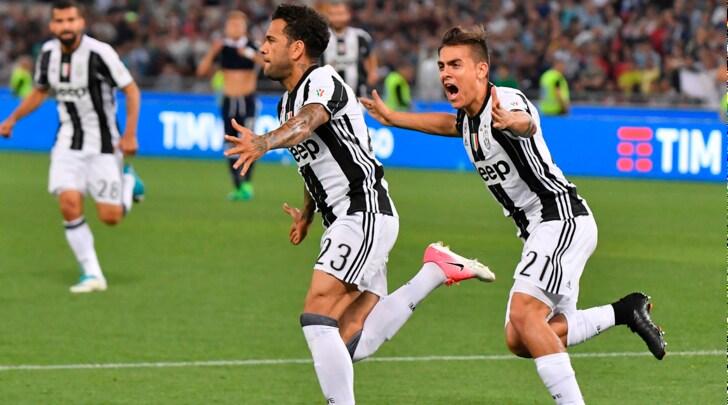 Juventus, Coppa Italia al cielo: in trionfo con fenomeno Dani Alves e Bonucci
