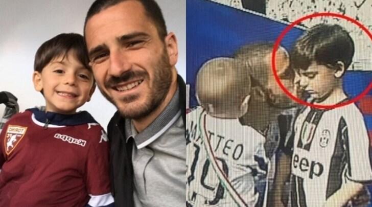Il piccolo Bonucci con la maglia della Juventus