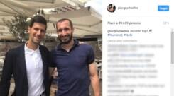Juventus, Chiellini-Djokovic: «Incontri top!»