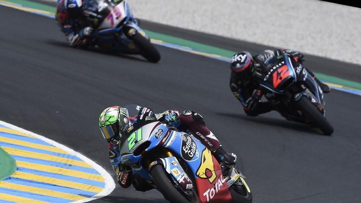 Moto2, Morbidelli: «Bene i test a Le Mans»
