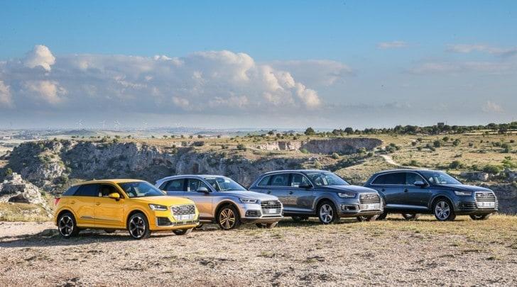 Audi, la prova della gamma Suv aspettando Q8 e Q4
