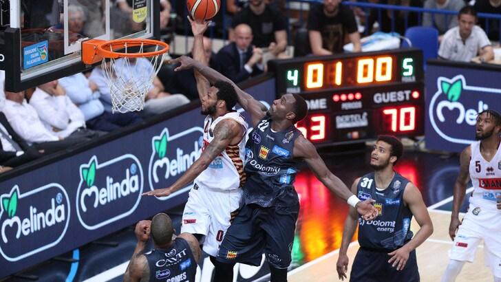 Basket: Trento, la rivincita su Venezia a 1,75