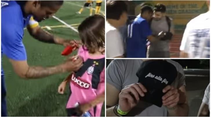 Calciomercato, Douglas Costa firma maglia e cappello della Juventus