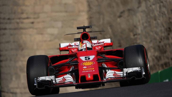 GP Baku: Vettel rosso di rabbia