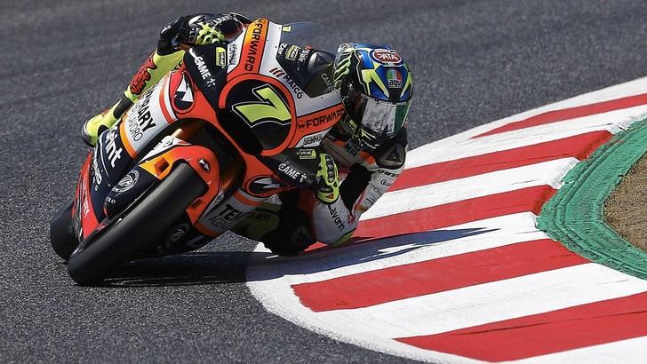 Moto2, Assen: paura per Baldassarri, Morbidelli in pole