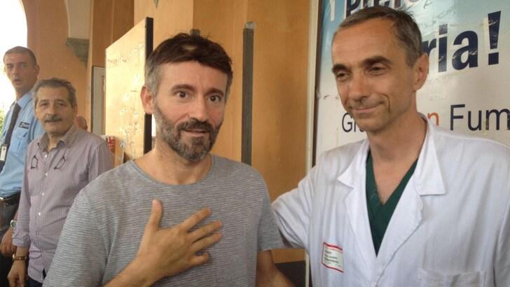 Biaggi lascia l'ospedale: «Torno in pista? Ora penso a guarire»