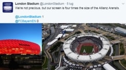 Sfida tra stadi, sfottò Bayern Monaco al West Ham