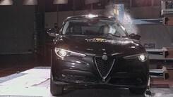Crash test Euro NCAP, l'Alfa Romeo Stelvio ottiene 5 stelle