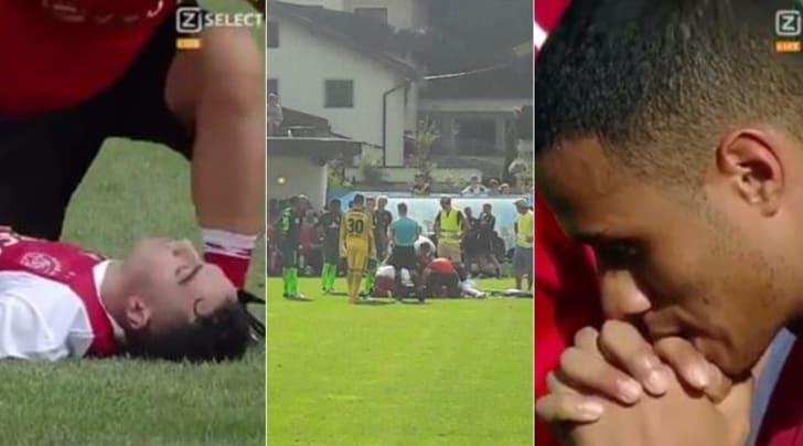 Ajax, Nouri si accascia in campo: malore in amichevole