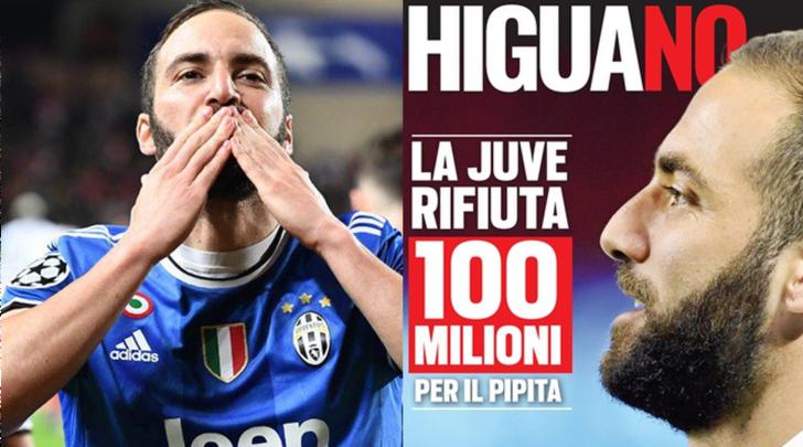 La Juventus rifiuta 100 milioni per Higuain