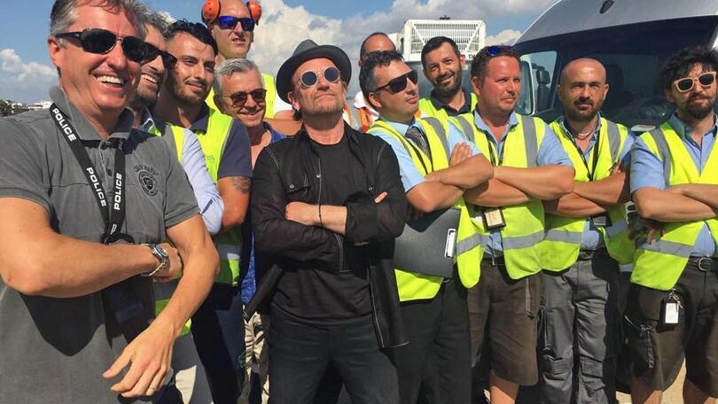 U2 in concerto a Roma: varchi con metal detector