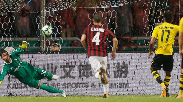 International Champions Cup: Milan-Borussia Dortmund 1-3, Aubameyang stende Montella