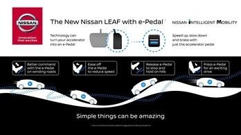 Nissan e-Pedal, un solo pedale per accelerare e frenare