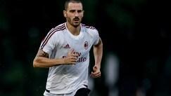 Milan, primo allenamento in Cina per Bonucci