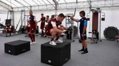 Torino, l'allenamento in palestra e in campo