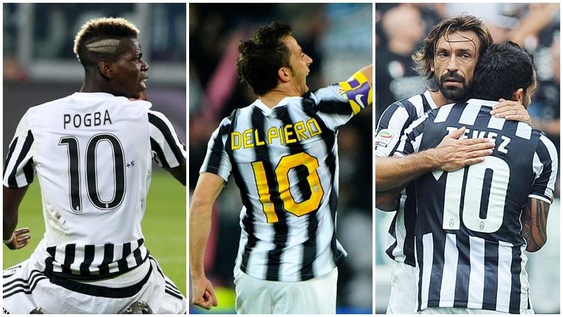 Bernardeschi e la 10 della Juventus: ecco le leggende che l'hanno indossata