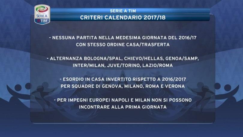 Calendario Serie A 2017-18: rivivi la diretta