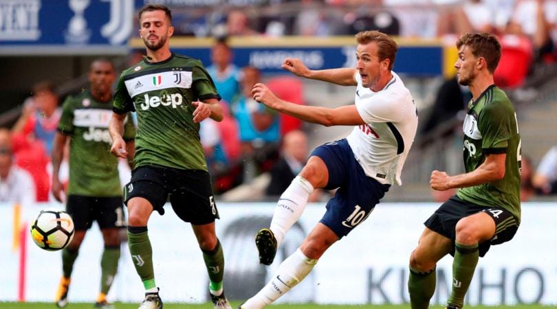 La Juve pesca il Tottenham ai sorteggi: Harry Kane è uno dei maggiori pericoli per i bianconeri. Foto: PA.
