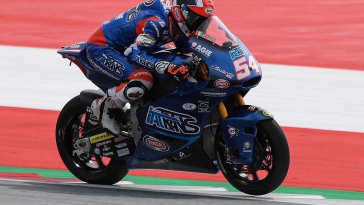 Moto2 Austria, Pasini conquista la pole