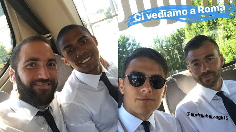 <p>La squadra di Allegri in viaggio verso la Capitale in vista della Supercoppa contro la Lazio: il nuovo acquisto brasiliano vuole iniziare subito con una vittoria (Fonte Instagram)</p>