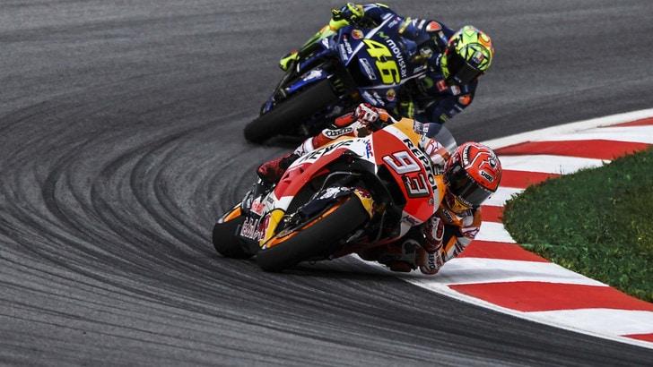 MotoGp Austria: la vittoria di Marquez vale 2,50, Rossi rimonta da 9,00