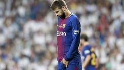 Real Madrid-Barcellona, Piquè: «Noi inferiori»