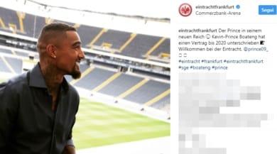 Calciomercato ufficiale, Boateng riparte dall'Eintracht Francorte