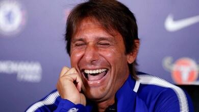 La risata di Conte dopo la domanda su Diego Costa