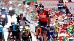 """Nibali show alla Vuelta. Lo """"squalo"""" alza la pinna sul traguardo"""