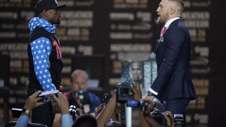 Boxe, Mayweather vs McGregor: in quota l'irlandese alle corde