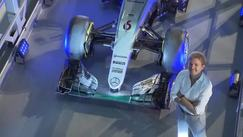 La macchina di Rosberg al museo della Mercedes
