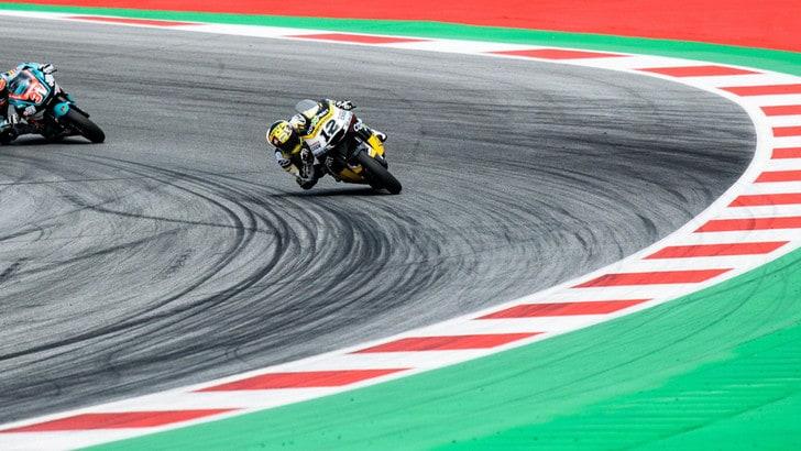 Moto2, De Angelis in pista a Silverstone