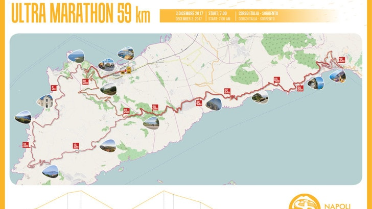 Coast To Coast Napoli Running svelato il percorso da 59km