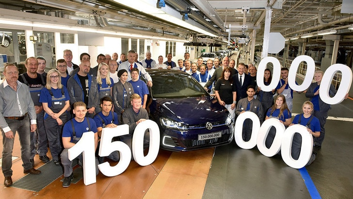 Volkswagen raggiunge 150 milioni di auto prodotte