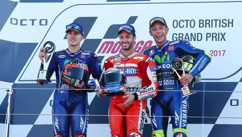 Festa Dovizioso a Silverstone davanti a Viñales e Rossi