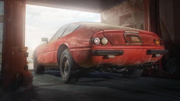 Ferrari Daytona, dal fienile all'asta milionaria