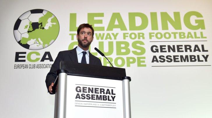 Juventus Andrea Agnelli eletto presidente dell'Eca