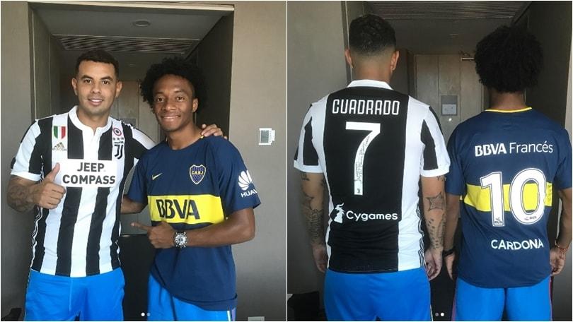 Colombia, i tifosi del Boca Juniors a Cardona: «Portaci Cuadrado»