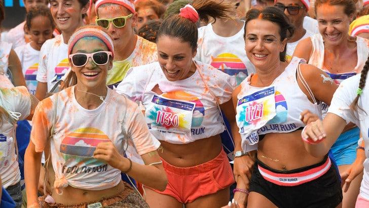 Color Run, gran finale a Torino