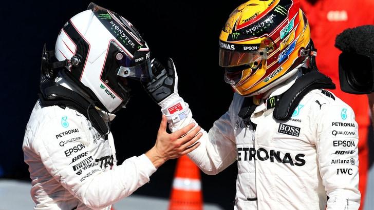 F1 Mercedes, Bottas: «Se serve aiuterò Hamilton»