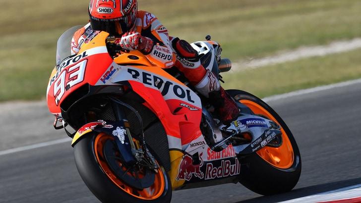 MotoGp, San Marino: acqua in pista, ma Marquez vola