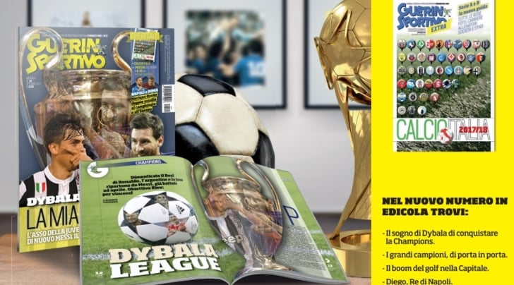 Guerin Sportivo, sul nuovo numero lo speciale Champions