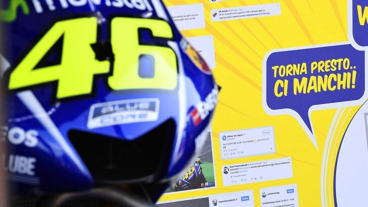 MotoGp San Marino, Rossi: «Spiace non essere lì»