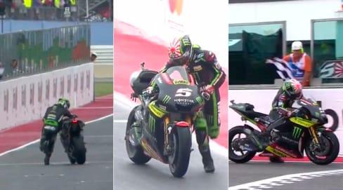 MotoGp, Misano: eroico Zarco, spinge la moto a piedi sul traguardo per 1 punto