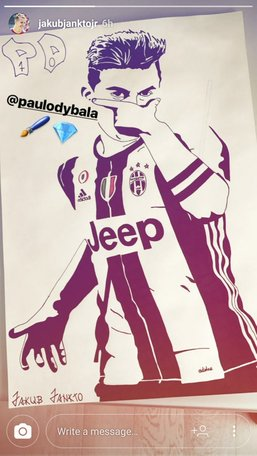 Jankto, talento anche nel disegno: bellissimo il ritratto di Dybala!