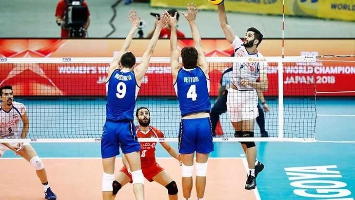 Gli azzurri lottano e portano al 5° set l'Iran. Ma non basta